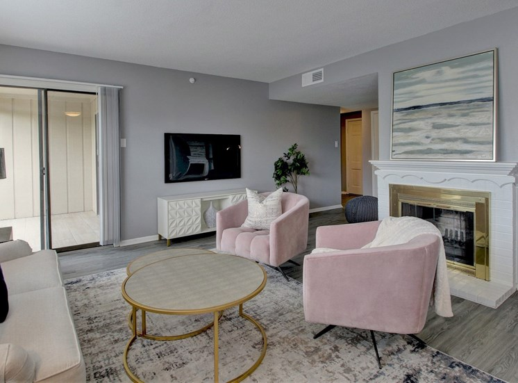 Living area at Forest Place