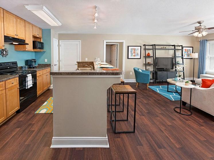 kitchen at Smiths Landing Apartments in Blacksburg VA