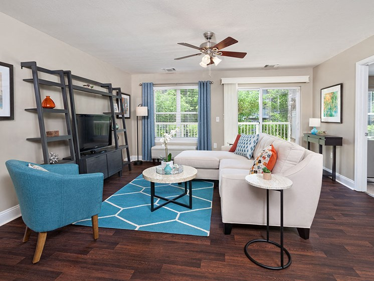 Living room at Smiths Landing Apartments