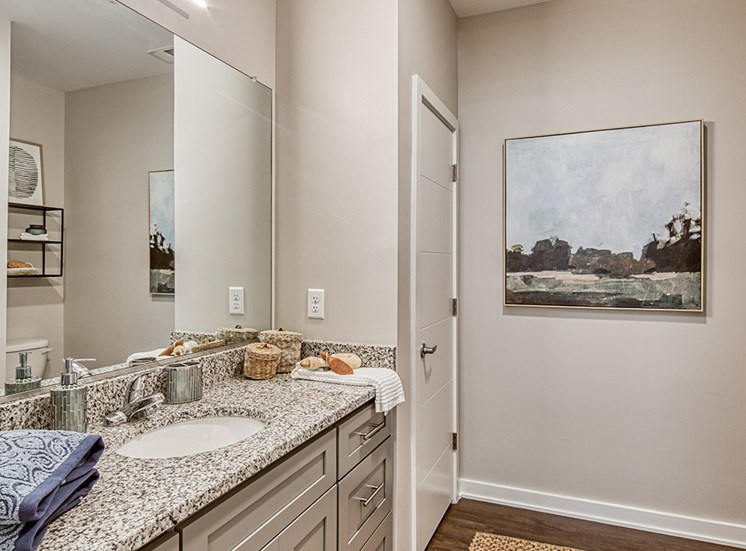 Bath in luxury apartments in Hampton Va