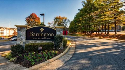 Barrington Apartments Sign