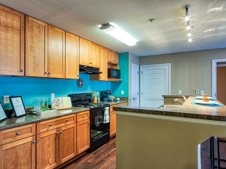Kitchen at apartments near VT