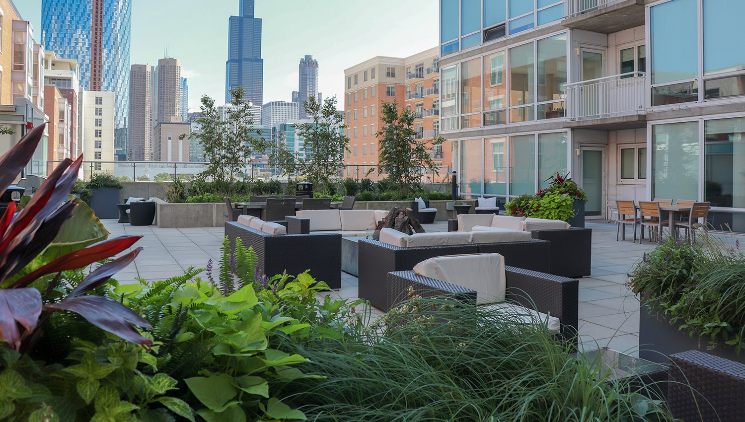 24 S Morgan Rooftop Terrace with Seating
