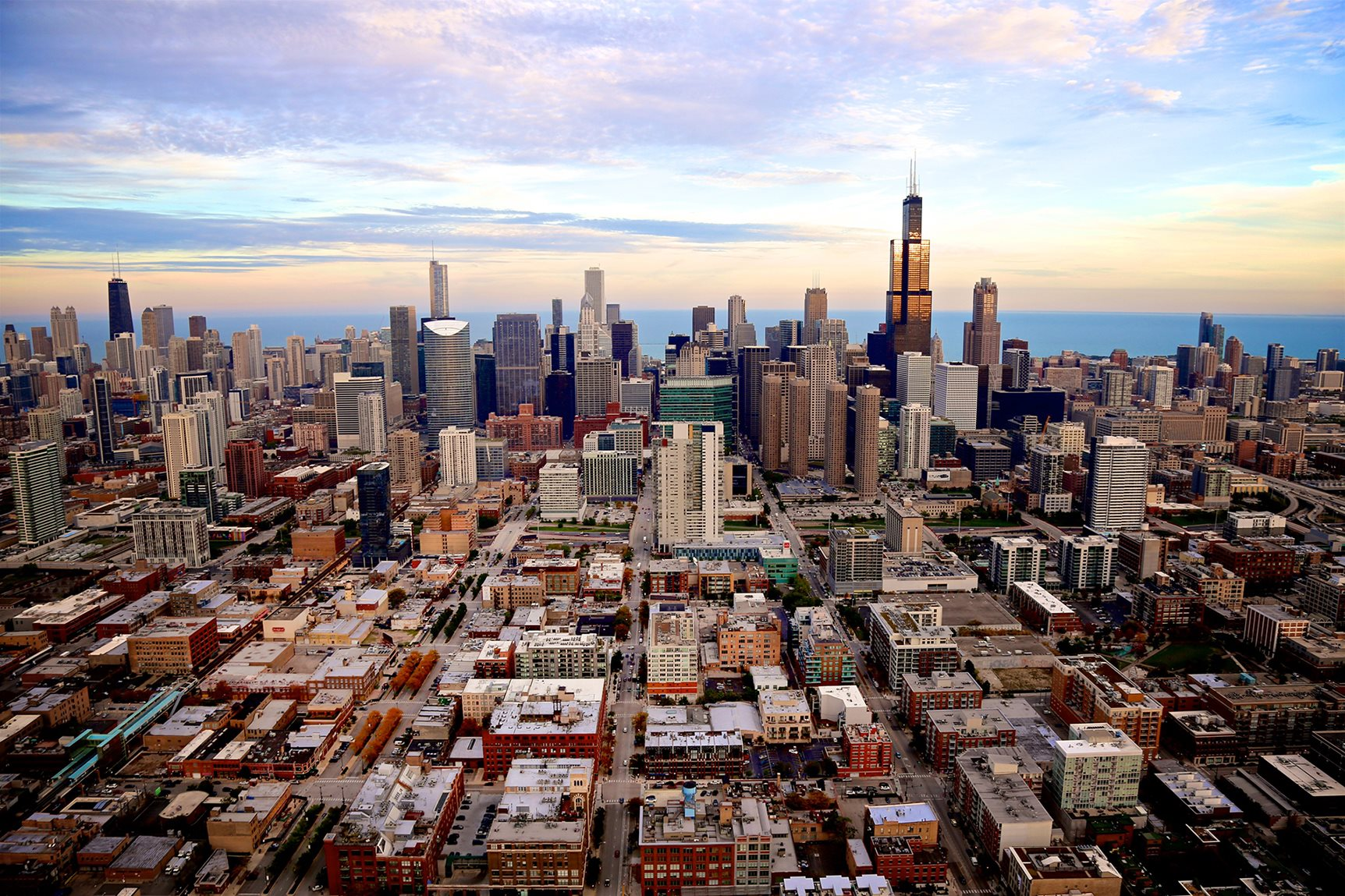 Aerial image of Fulton Market District