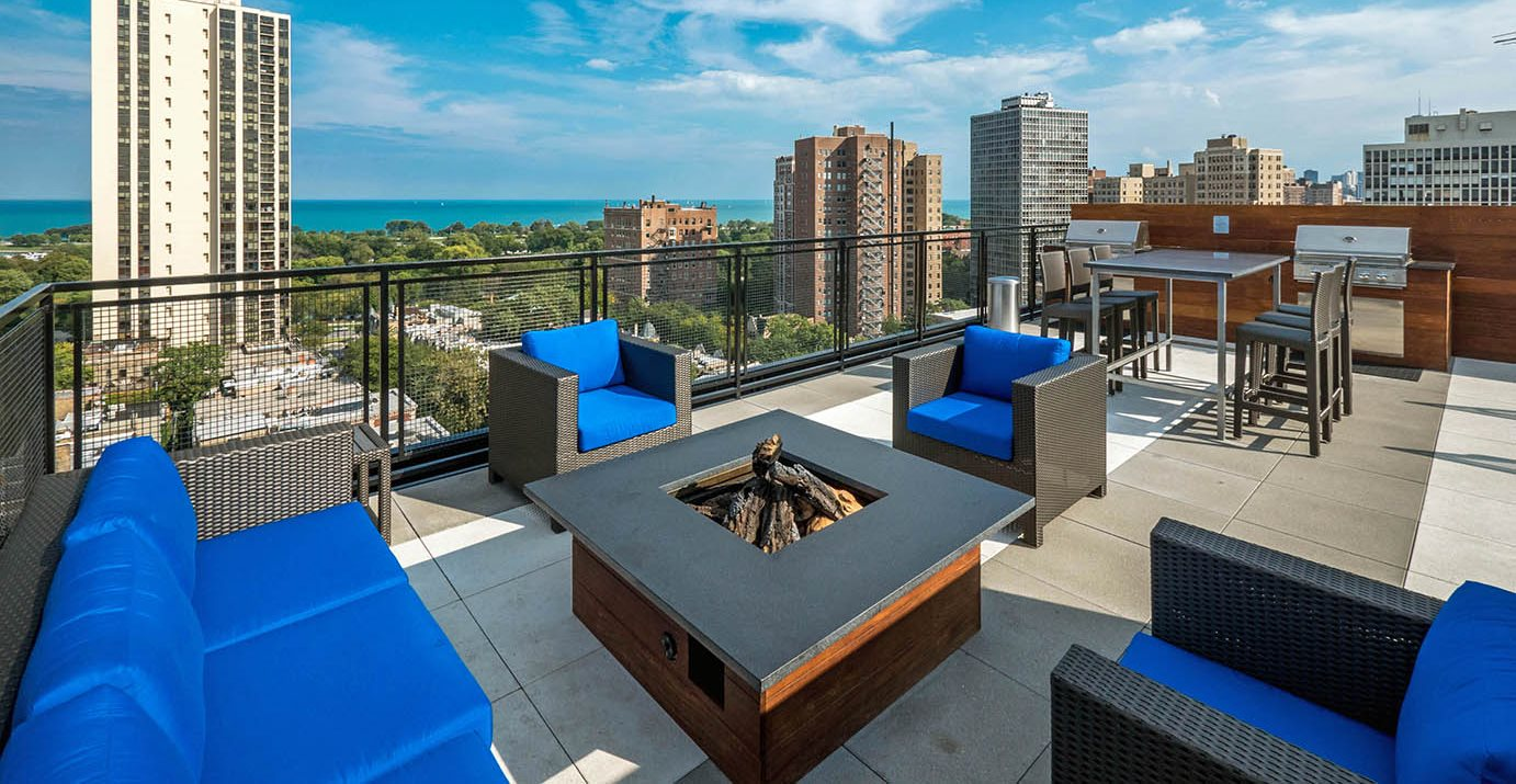 Park Lincoln by Reside Roof Deck with firepit