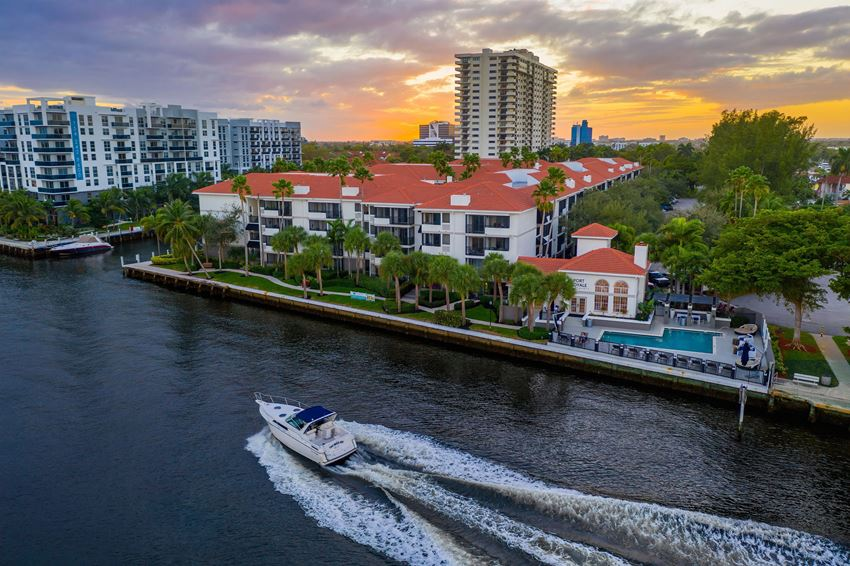Aerial Sunset View of Intracoastal