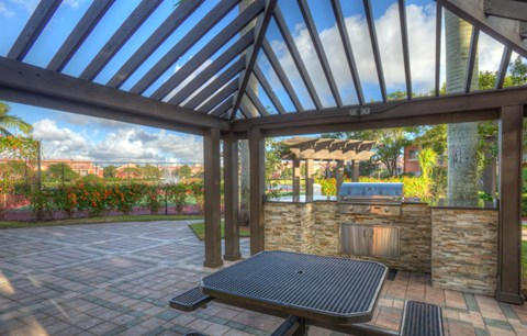 Outdoor seating with gazebo