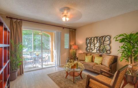 Spacious Living Room overlooking Balcony