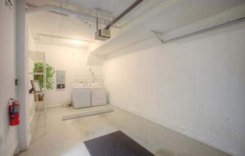 One Car garage with washer and dryer