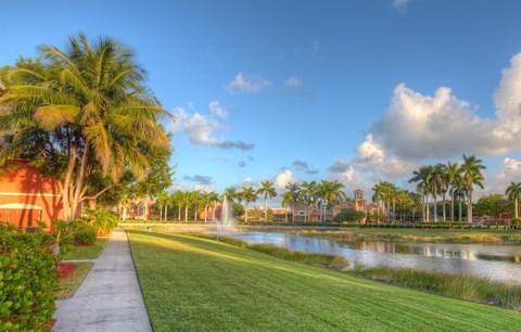 Sidewalk and Lake View