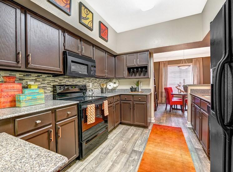 Kitchen with Sleek Black Appliances