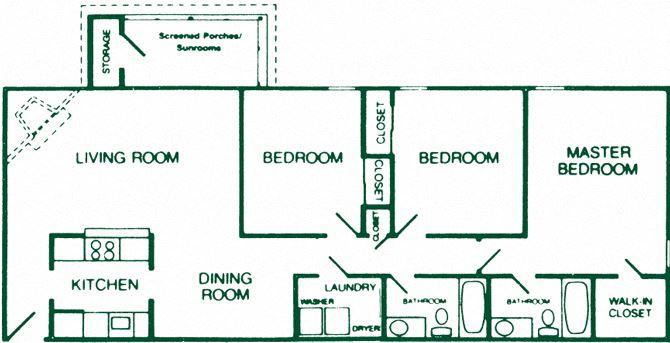 3 Bedroom 2 Bath Deluxe