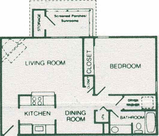 1 Bedroom 1 Bath Deluxe
