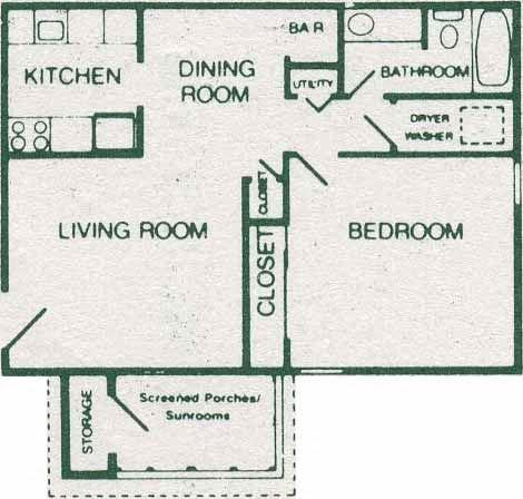 1 Bedroom 1 Bath Standard
