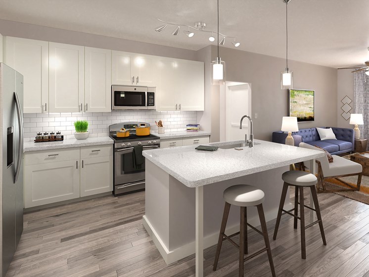 Fitted Kitchen With Island Dining at Estero Parc, Florida, 33928