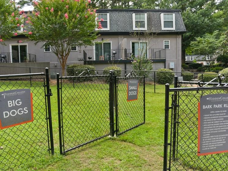 Hidden Colony Apartments Dog Park