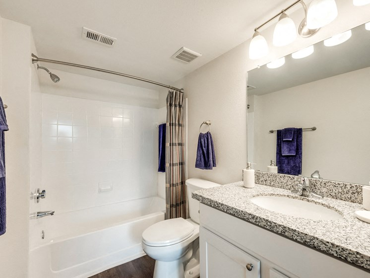 Bahia Cove Apartments Model Bathroom