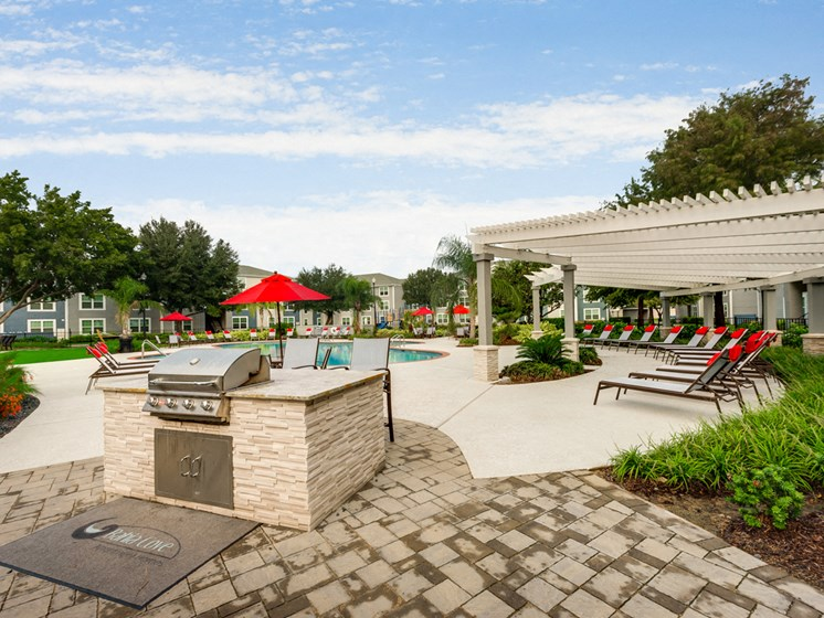 Bahia Cove Apartments Outdoor Summer Kitchen