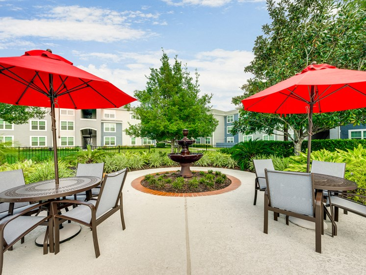 Bahia Cove Apartments Outdoor Seating Area