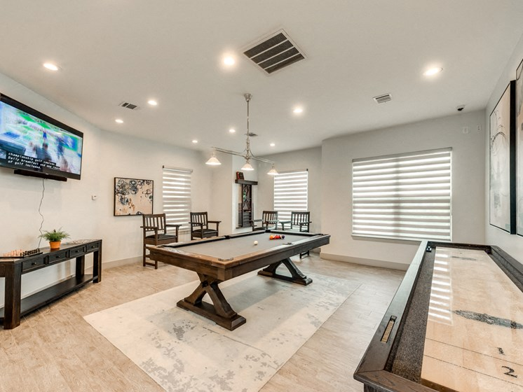 Bahia Cove Apartments Billiard Room with Indoor Shuffleboard