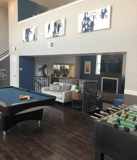 Turtle Pointe Apartments | Houston, TX | Recreation Room with Billiards and Shuffle Board