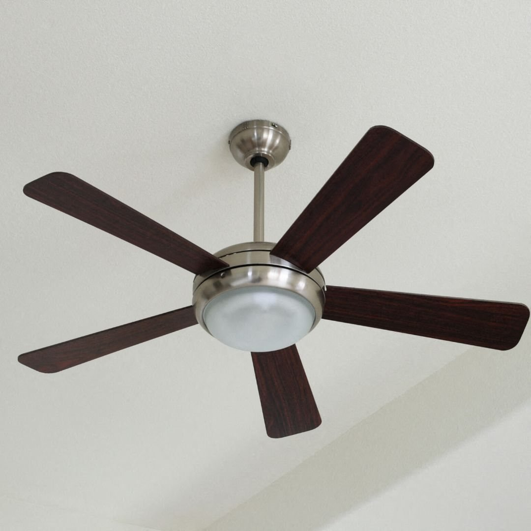 Ceiling Fans with Brushed Nickel Hardware