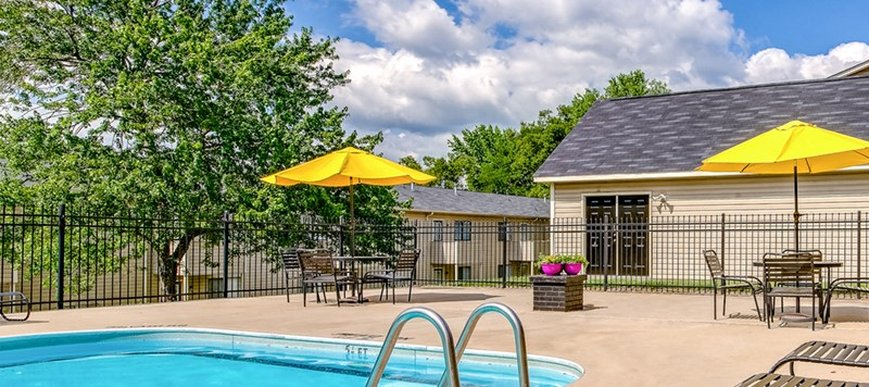 Sundeck at Crestview Apartment Homes in Concord, North Carolina, NC