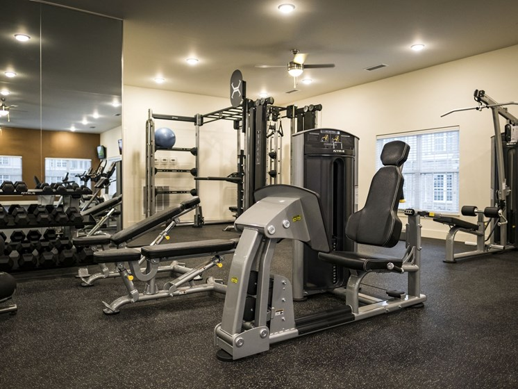 Strength Training Equipment at 9910 Sawyer Apartment Homes in Louisville, Kentucky, KY