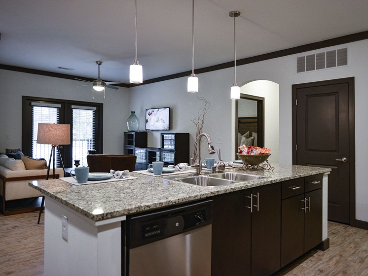 Large Kitchen Islands at 9910 Sawyer Apartment Homes in Louisville, Kentucky, KY