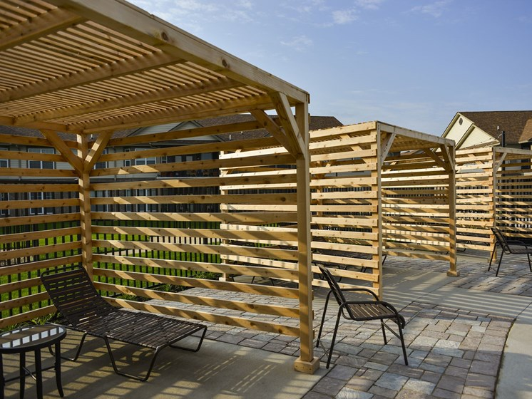 Private Shaded Cabanas at 9910 Sawyer Apartment Homes in Louisville, Kentucky, KY