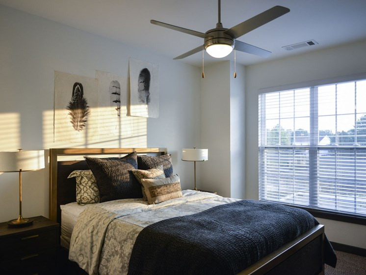 Model Bedroom at 9910 Sawyer Apartment Homes in Louisville, Kentucky, KY