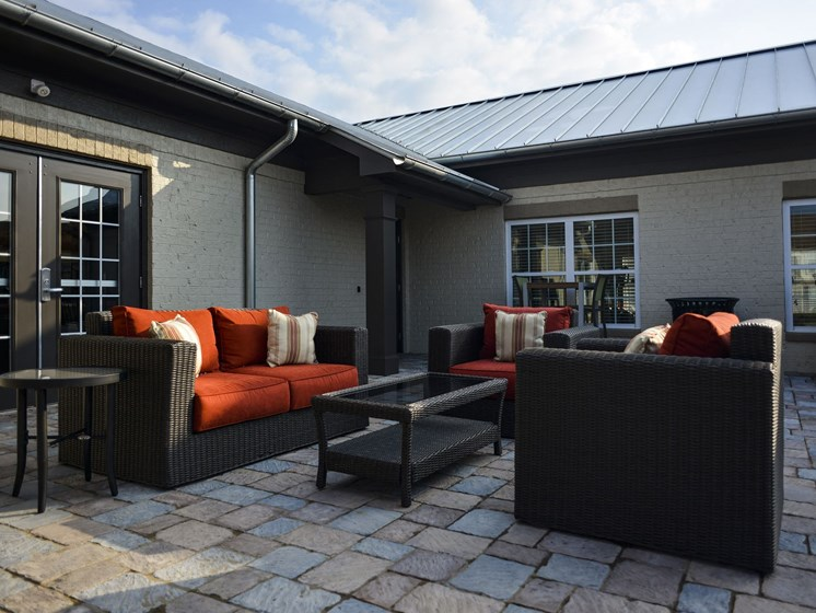 Outdoor Lounge Seating at 9910 Sawyer Apartment Homes in Louisville, Kentucky, KY