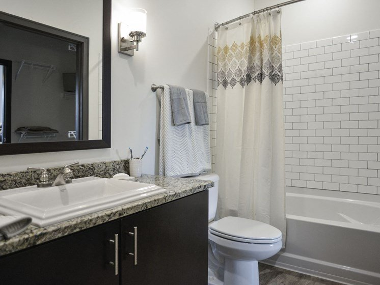 Model Bathroom at 9910 Sawyer Apartment Homes in Louisville, Kentucky, KY
