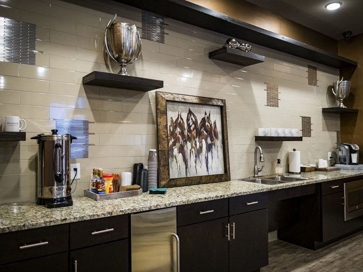 Coffee Bar Area at 9910 Sawyer Apartment Homes in Louisville, Kentucky, KY