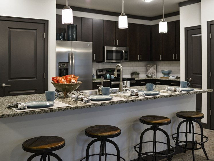 Kitchen Island Seating  at 9910 Sawyer Apartment Homes in Louisville, Kentucky, KY