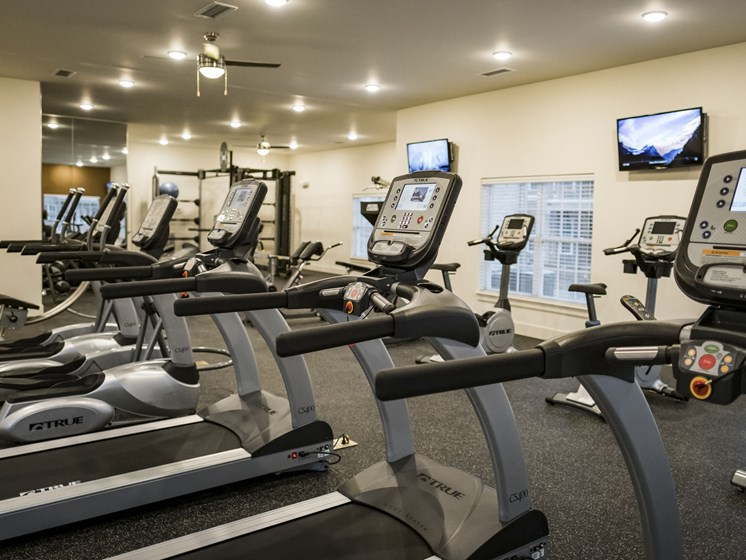 Cardio Equipment in the Fitness Center at 9910 Sawyer Apartment Homes in Louisville, Kentucky, KY