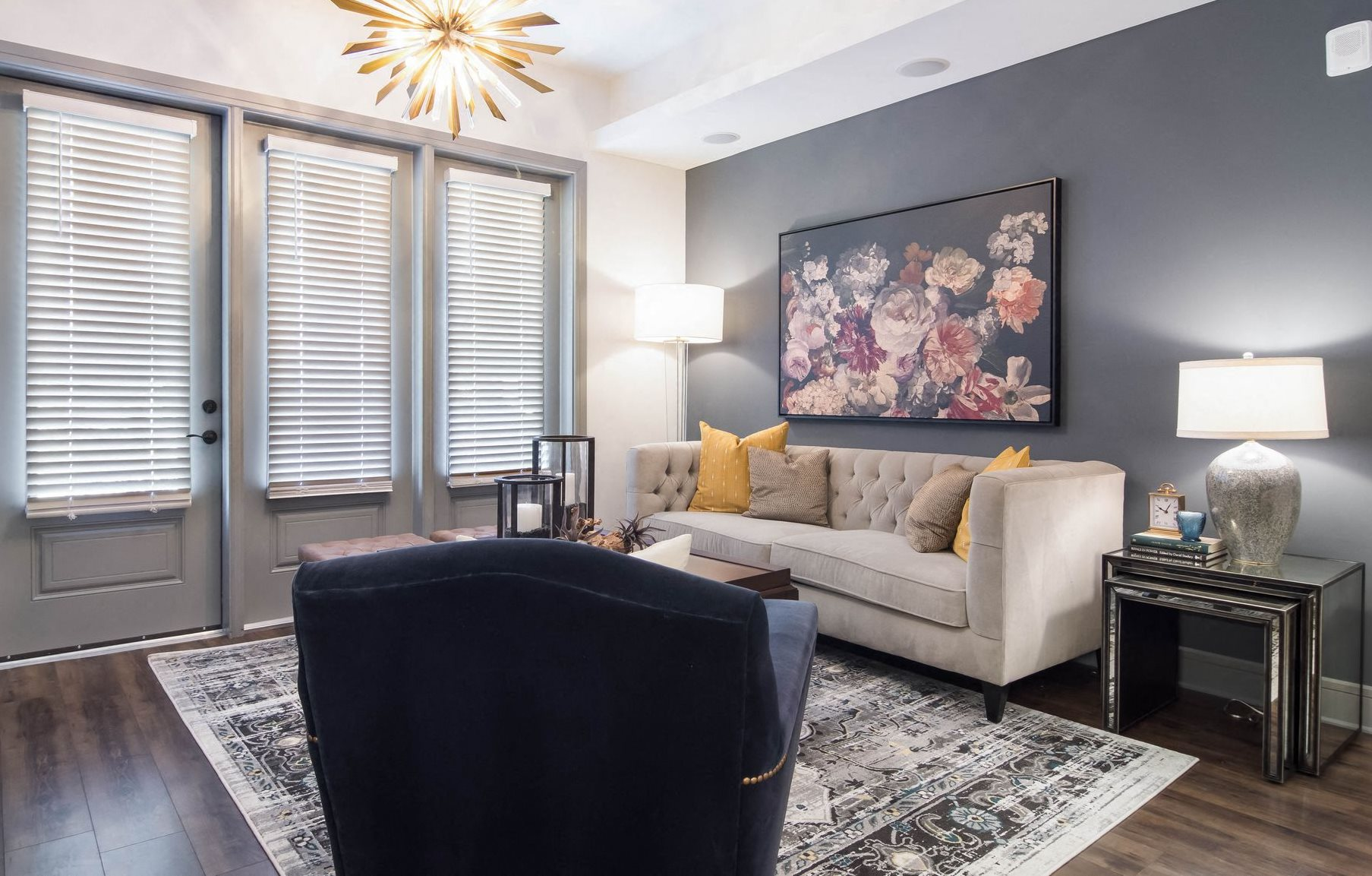 Amazing Living Room at The Alastair at Aria Village, Sandy Springs, GA