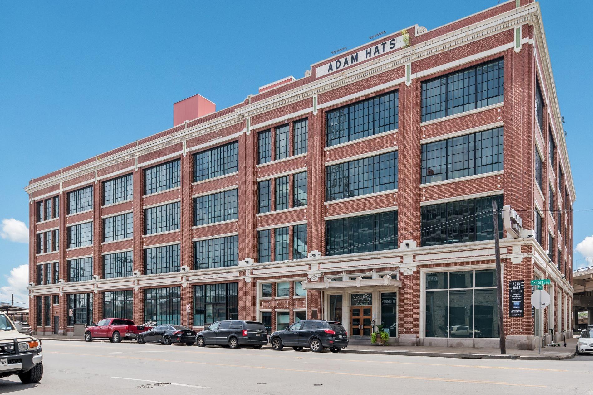 Building Exterior at Adam Hats Lofts in Deep Ellum, Dallas, Texas, TX
