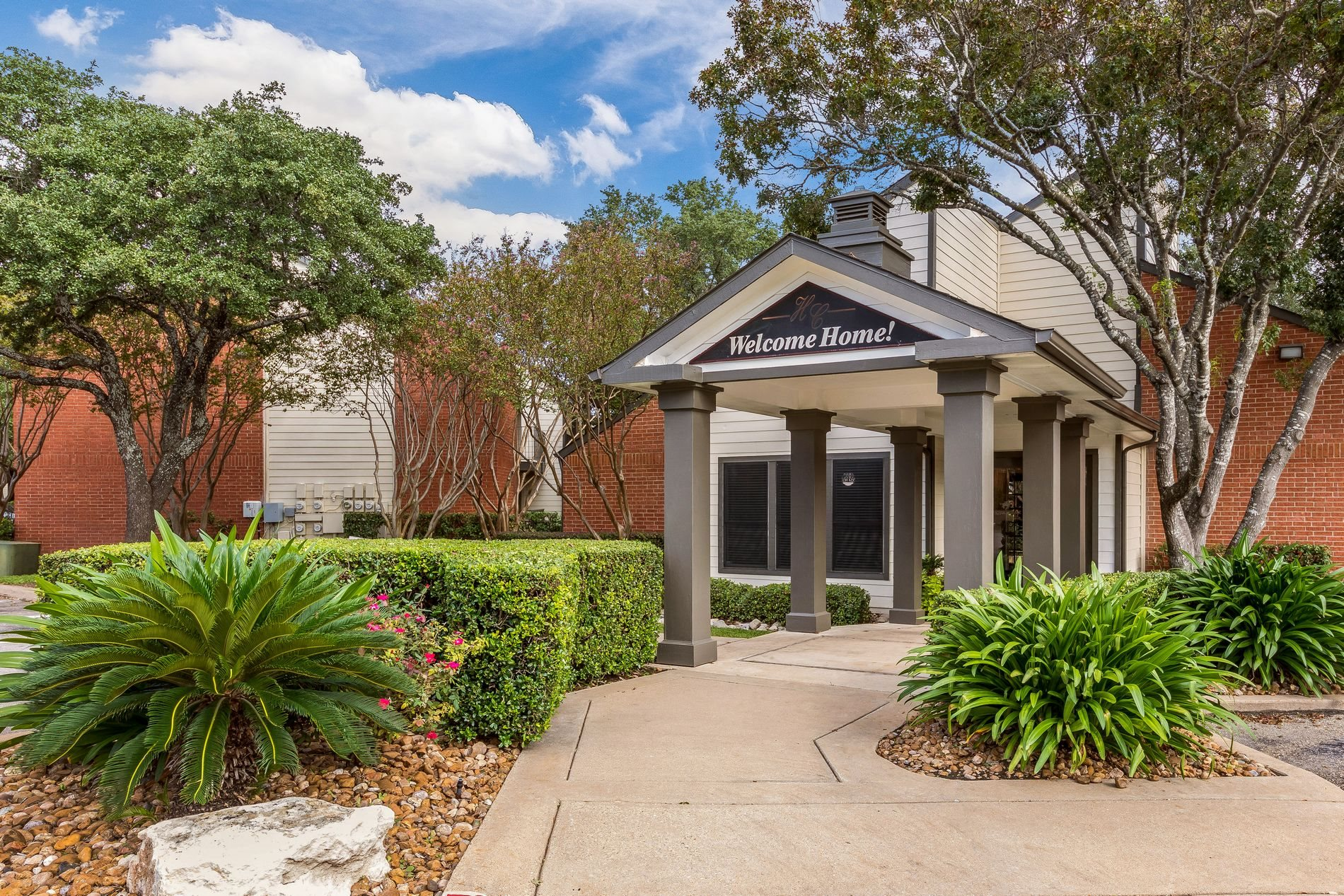 Leasing Office Exterior at Hunters Chase Apartment Homes in Austin,Texas, TX