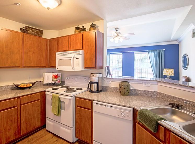 Model Kitchen at Bridgemoor at Killeen Apartments in Killeen, Texas, TX