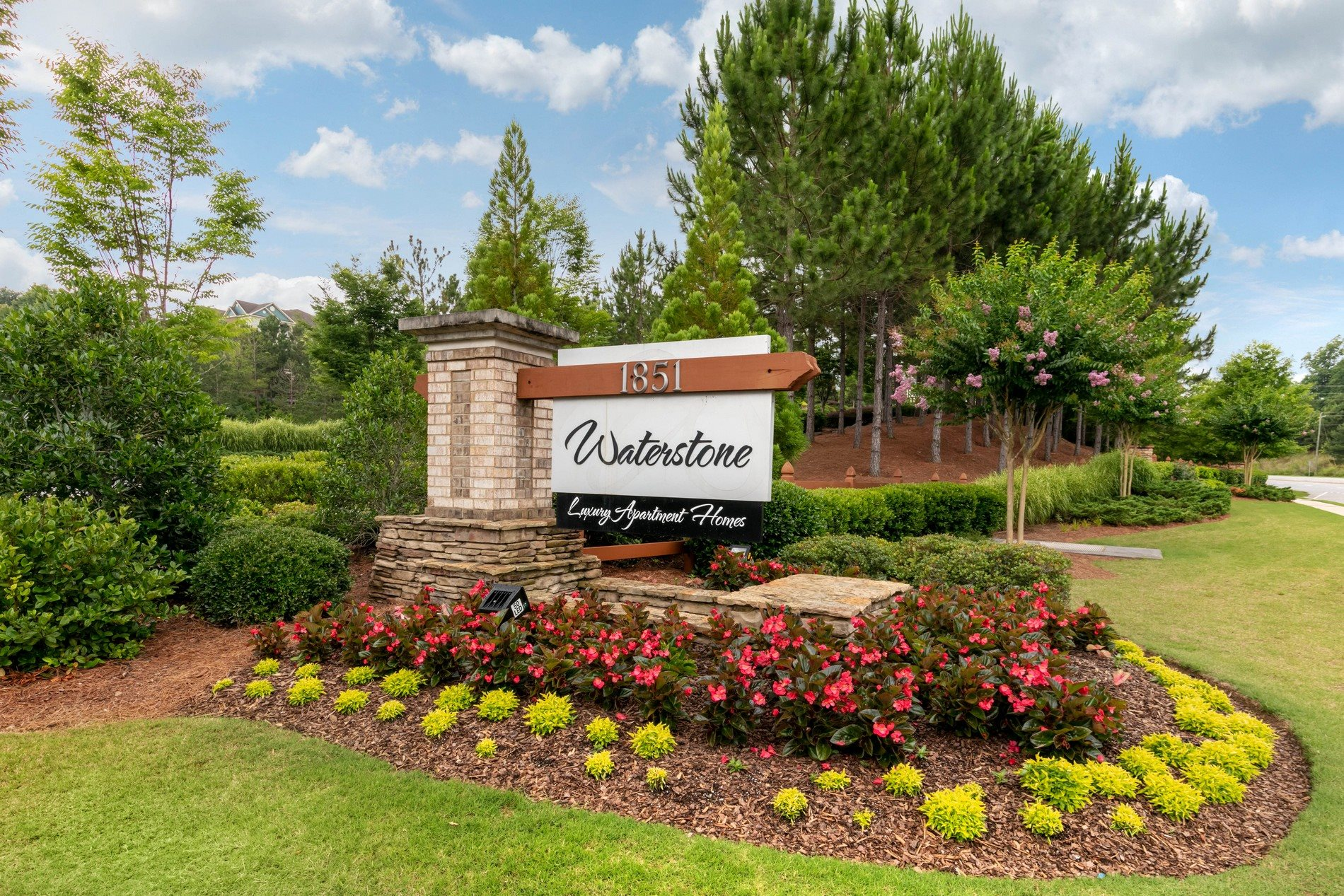 Monument Sign at Waterstone Apartment Homes in Buford, Georgia, GA