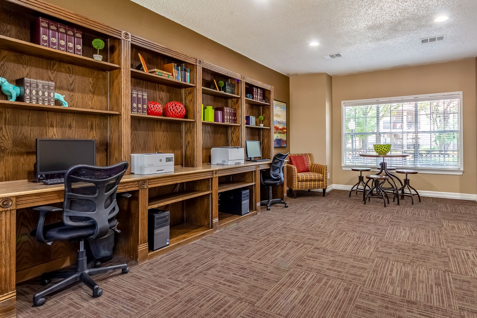 Business Center at La Costa Apartments in Plano, Texas, TX
