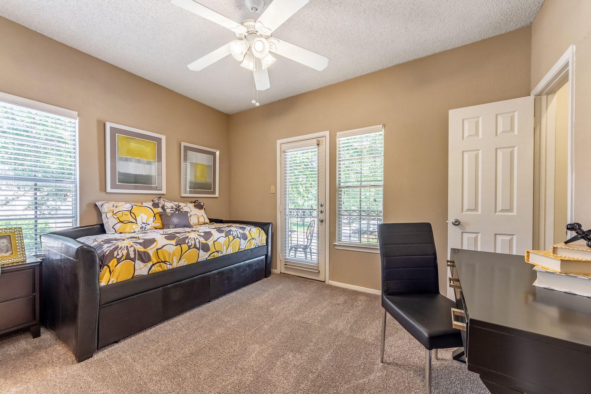Model Guest Bedroom at La Costa Apartments in Plano, Texas, TX
