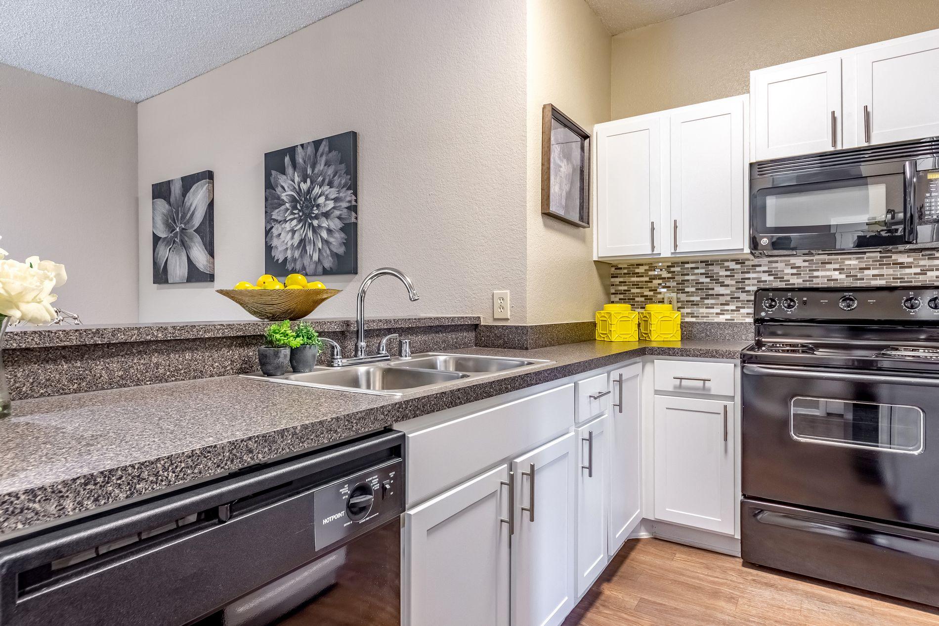 Model Kitchen at La Costa Apartments in Plano, Texas, TX
