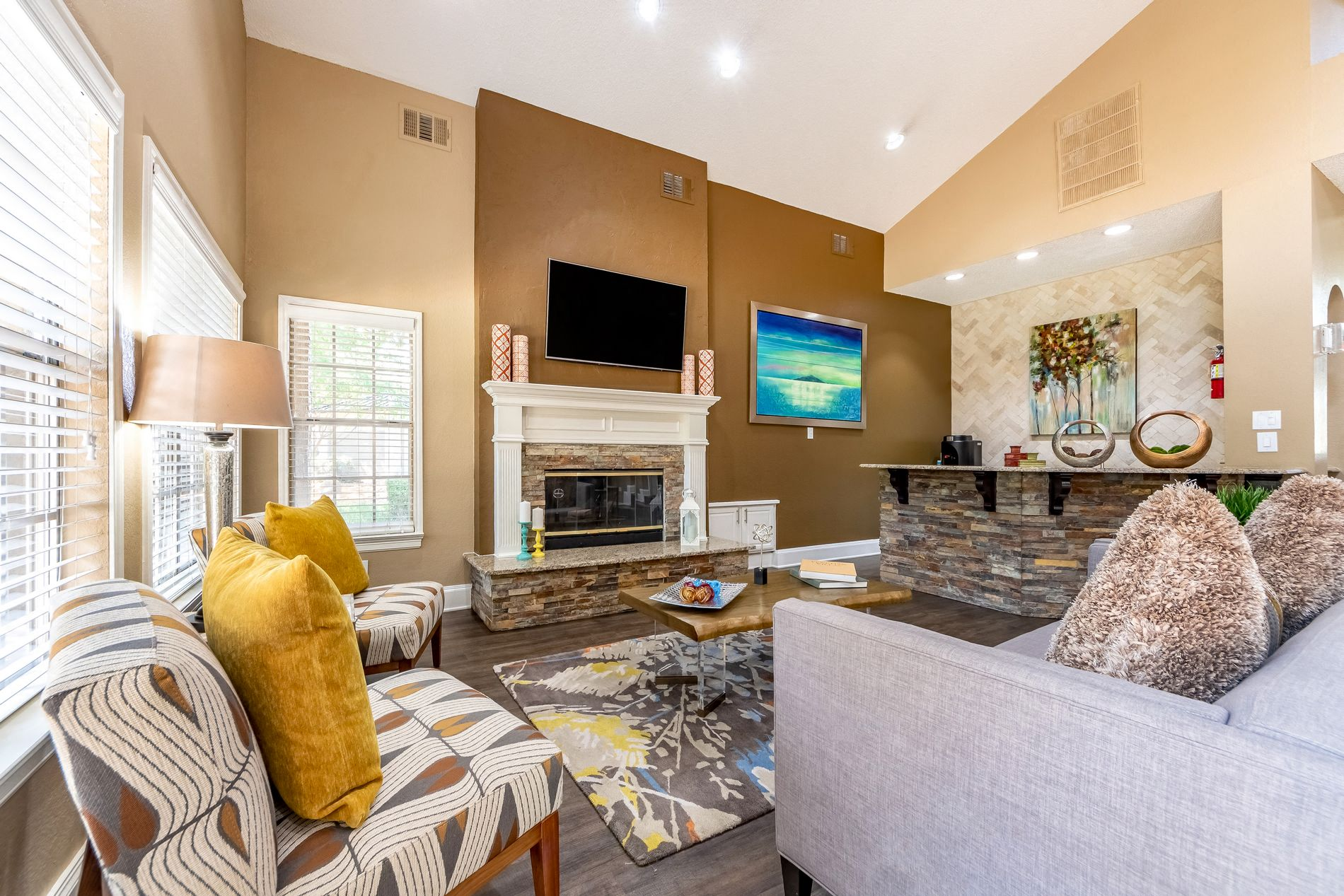 Leasing Office Interior At La Costa Apartments In Plano, Texas, TX