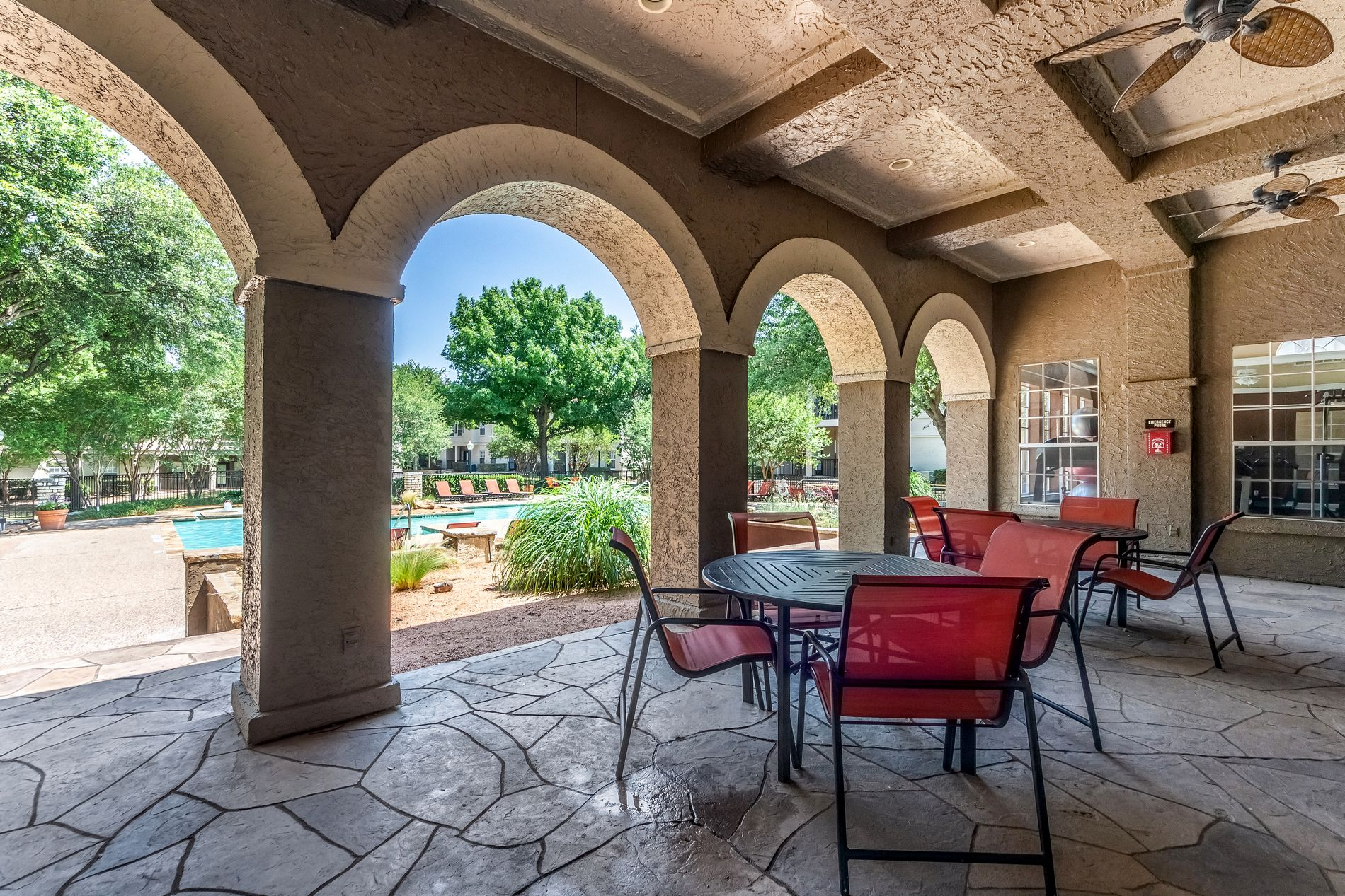 Outdoor Seating at La Costa Apartments in Plano, Texas, TX