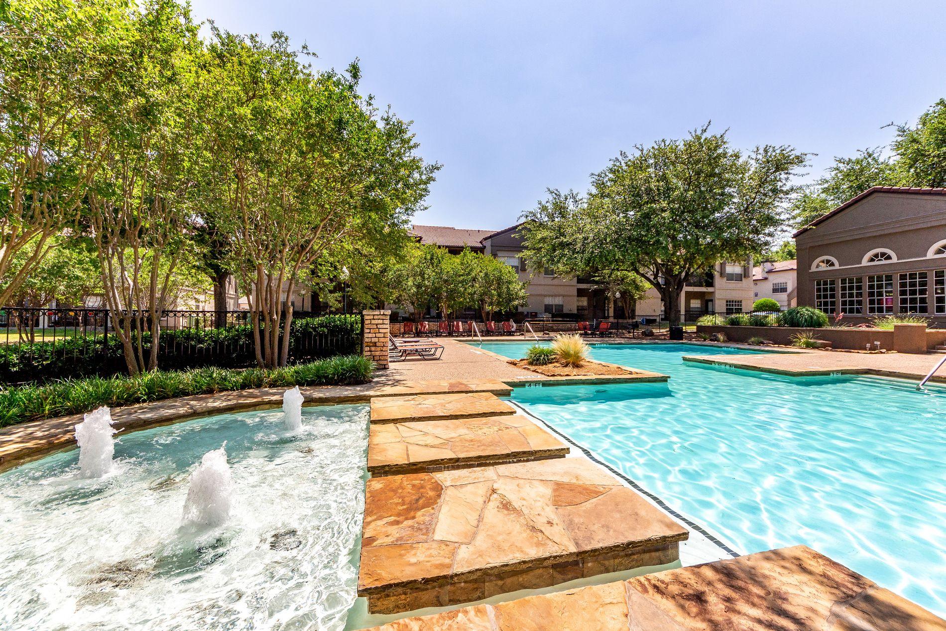 Second Pool Walkway at La Costa Apartments in Plano, Texas, TX