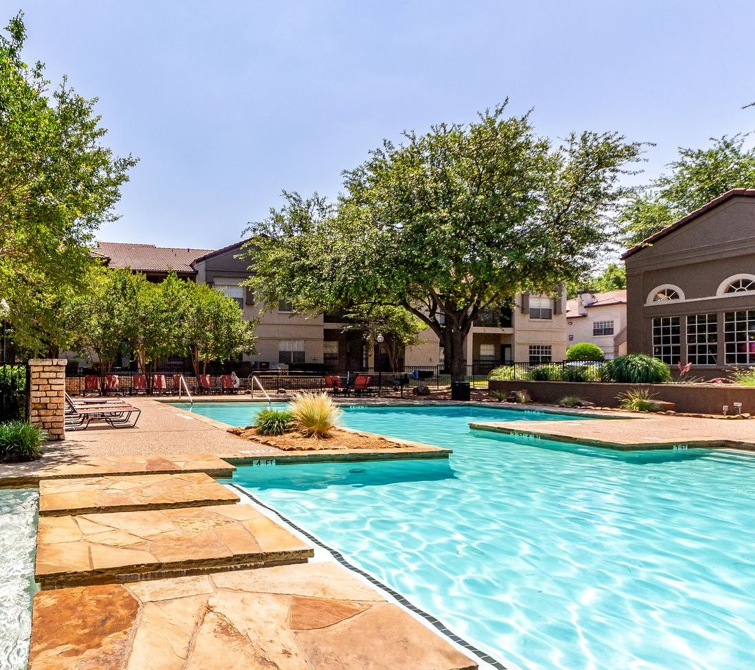 Second Pool Walkway at La Costa Apartments in Plano, Texas, TX