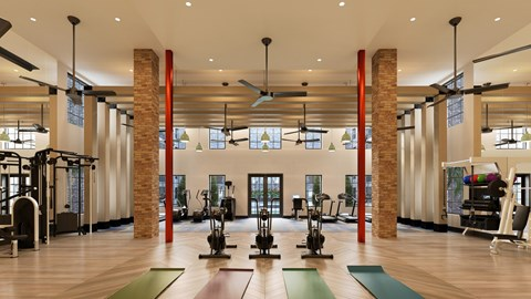 Fitness Area   Epoch on Eagle   Apartments in Denton, TX