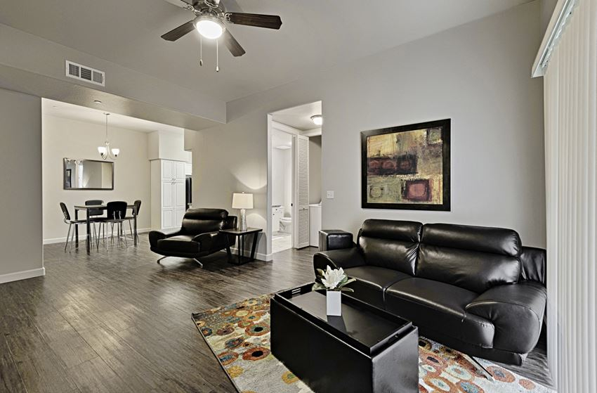The Riviera Apartments in Tulare Living Room